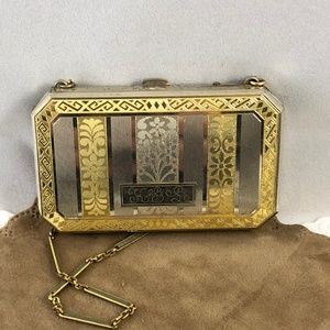 Vintage Elgin American Gold Filed Makeup Compact